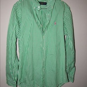 Ralph Lauren Emerald Green Button Down